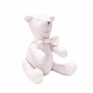 Decorative teddy bear quilted pink with bow