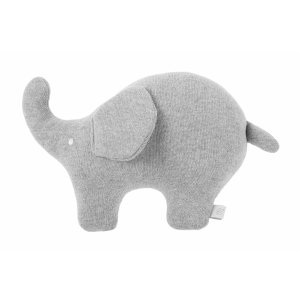 Knitted grey elephant