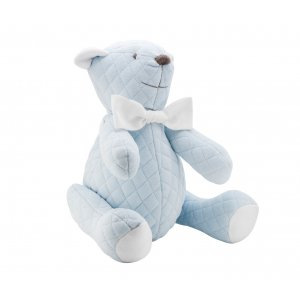 Decorative quilted teddy bear blue