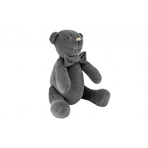 Decorative teddy bear Anthracite Gloss