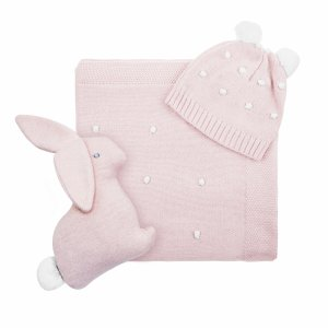 Baby knitted gift set pink