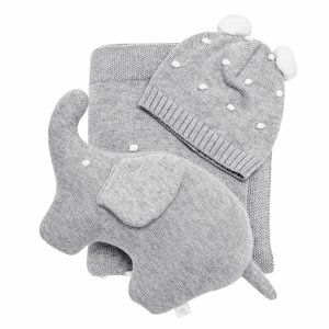 Baby knitted gift set grey