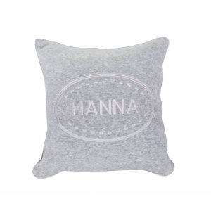 Customized grey pillow