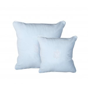 Azure velour pillows