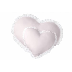 Baby pink hearts pillows