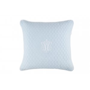 Quilted blue pillow big