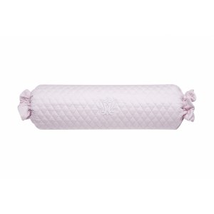 Baby pink quilted bolster with embroidery