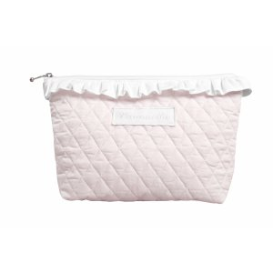 Quilted baby pink beauty case