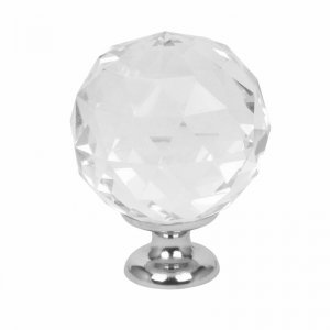 Crystal white furniture knob