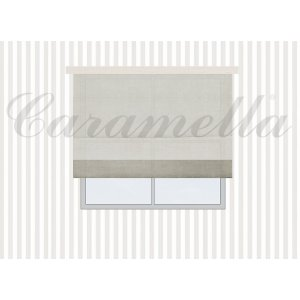 Roman blind with cuff