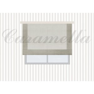 Roman blind with frame