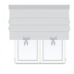 Roman blind with bows
