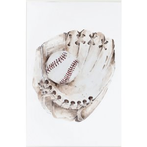Baseball graphic with glove