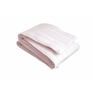 White and pink cot bumper