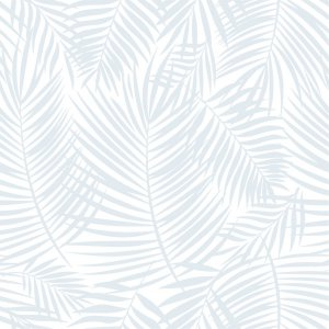 Wallpaper with blue palm leaves