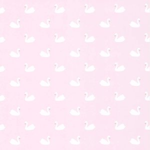 Pink wallpaper with swans