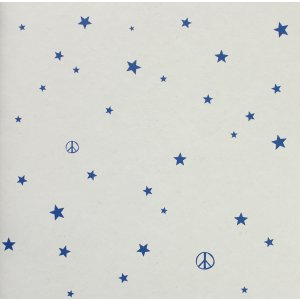 Wallpaper with little blue stars