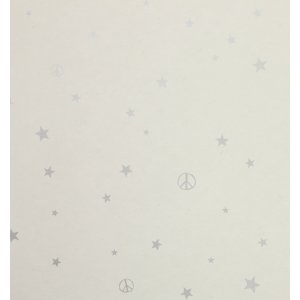Wallpaper with little grey stars