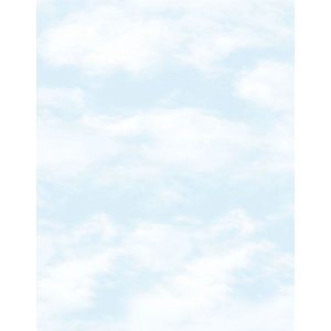 White wallpaper with clouds