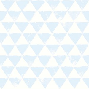 Wallpaper with azure triangles
