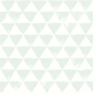 Wallpaper with mint triangles