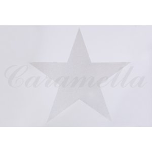 White wallpaper with big star