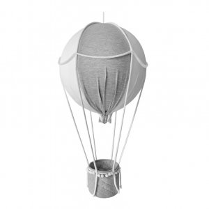 Decorative grey hot-air balloon