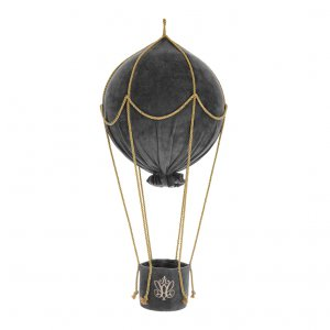 Decorative hot-air balloon Anthracite Gloss