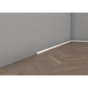 Floor moulding lacquered quadrant 19 mm