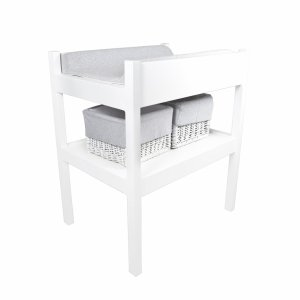 Changing table with grey equipment