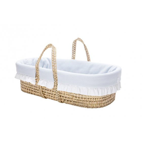 Pure Grey moses basket