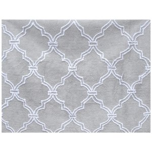 Grey rug with moroccan clover