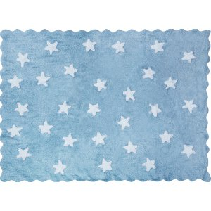 Azure cookie rug with white stars