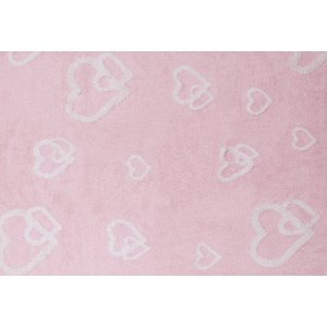 Baby pink rug with hearts