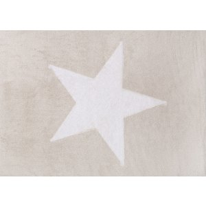Beige rug with big white star