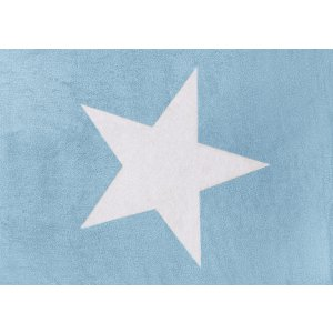 Azure rug with white star