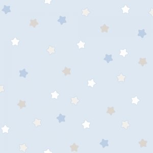Blue wallpaper with colorful stars