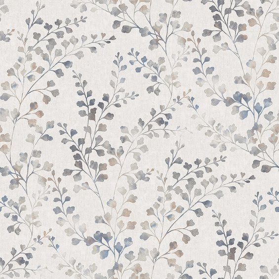 wallpaper-with-leaves-in-shades-of-beige