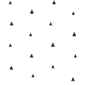 White wallpaper with black little triangles