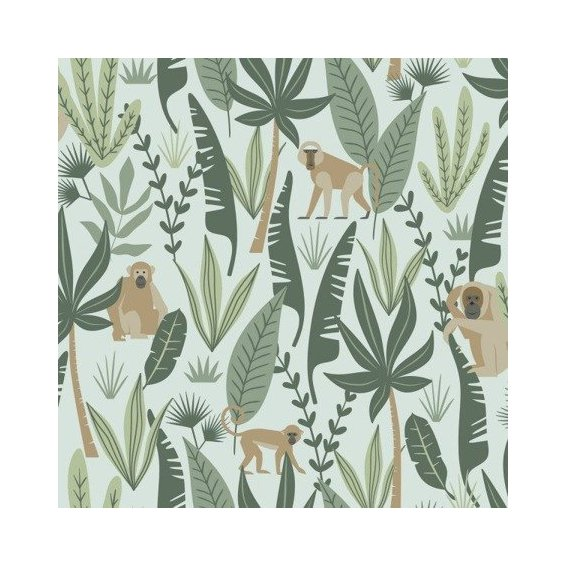mint-wallpaper-with-monkeys-among-the-leaves