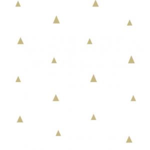 White wallpaper with little golden triangles