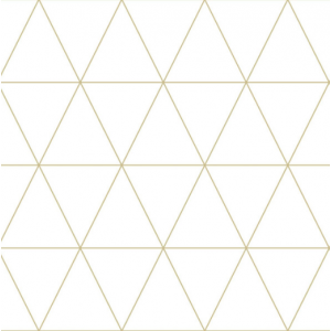 White wallpaper with golden triangles