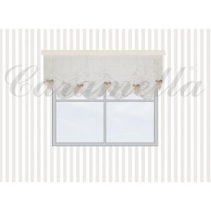 Venice valance with bows