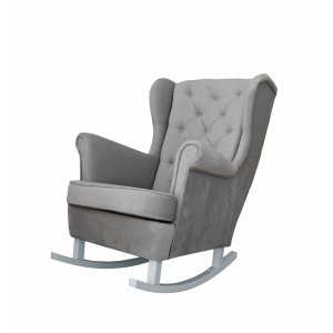 Anthracite rocking armchair
