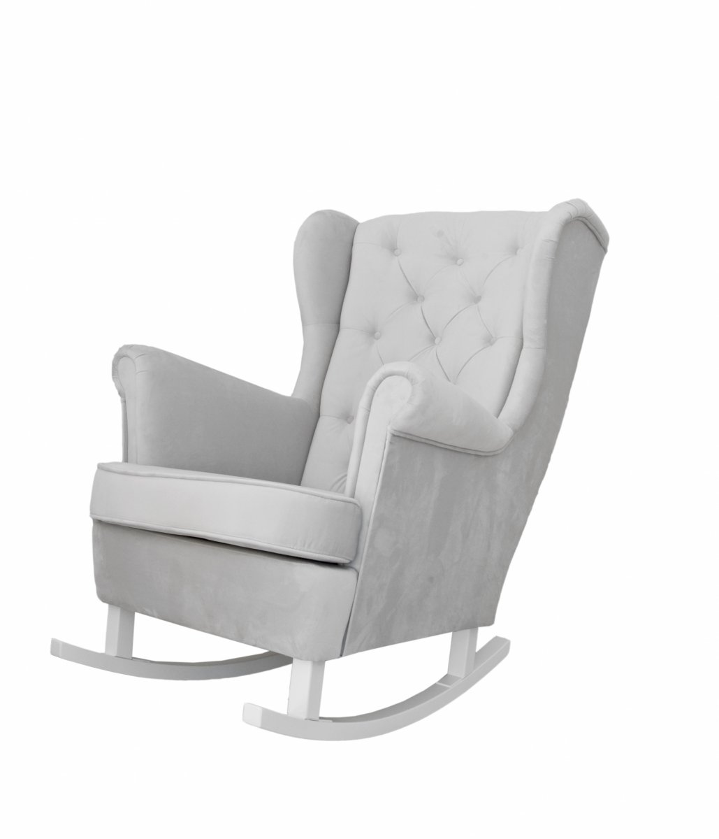 Grey rocking armchair - Armchairs - Furniture - Shop on ...