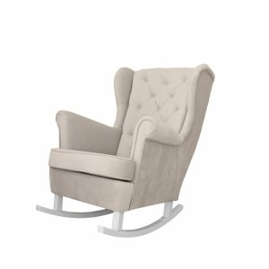 Beige rocking armchair