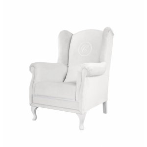 Yvory armchair with emblem