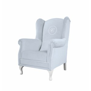 Azure armchair with emblem
