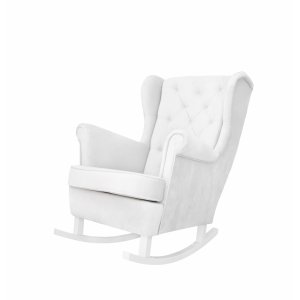Ivory rocking armchair