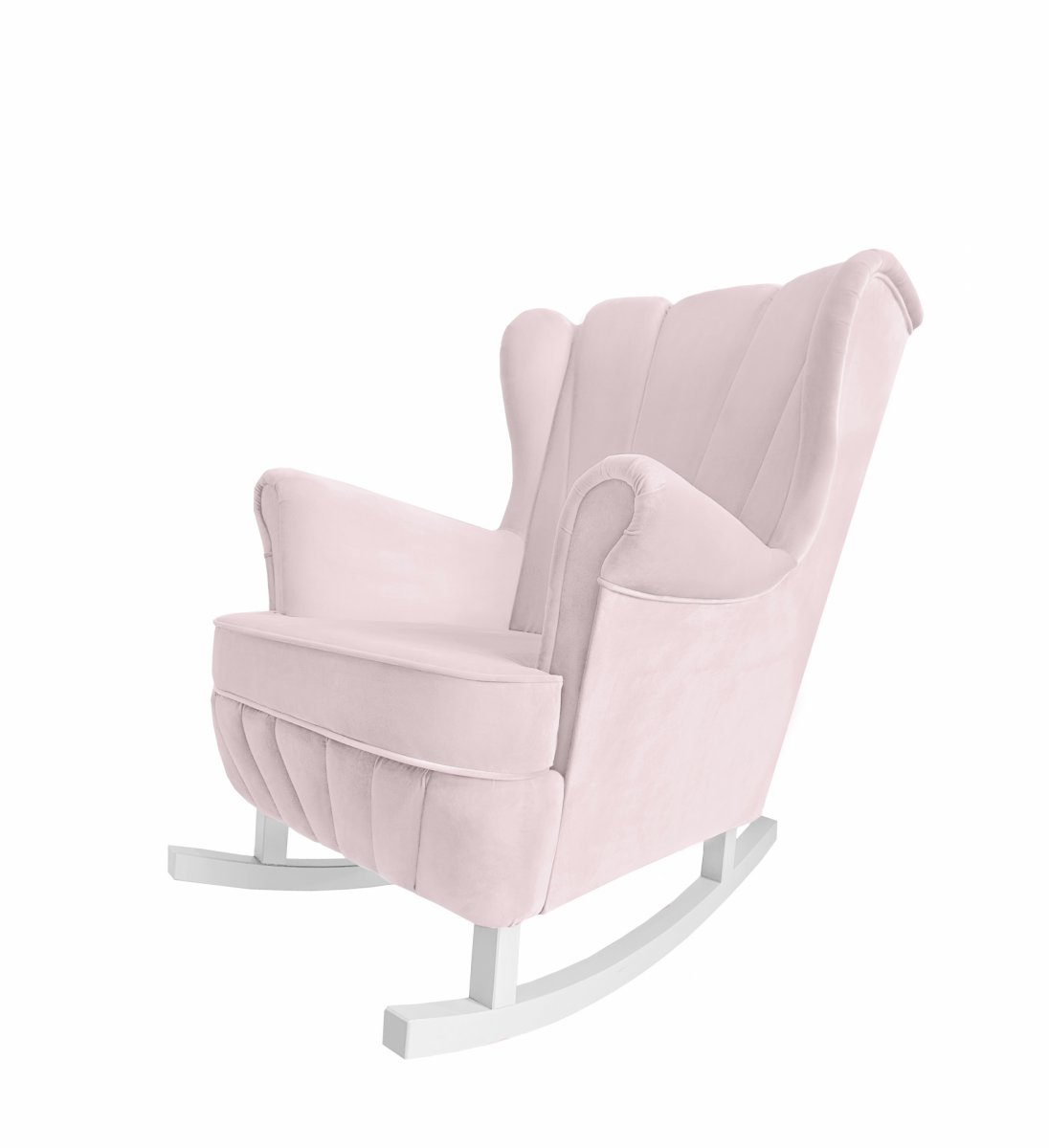 Baby pink rocking armchair Shell - Armchairs - Furniture ...